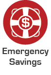 emergency savings calculator icon