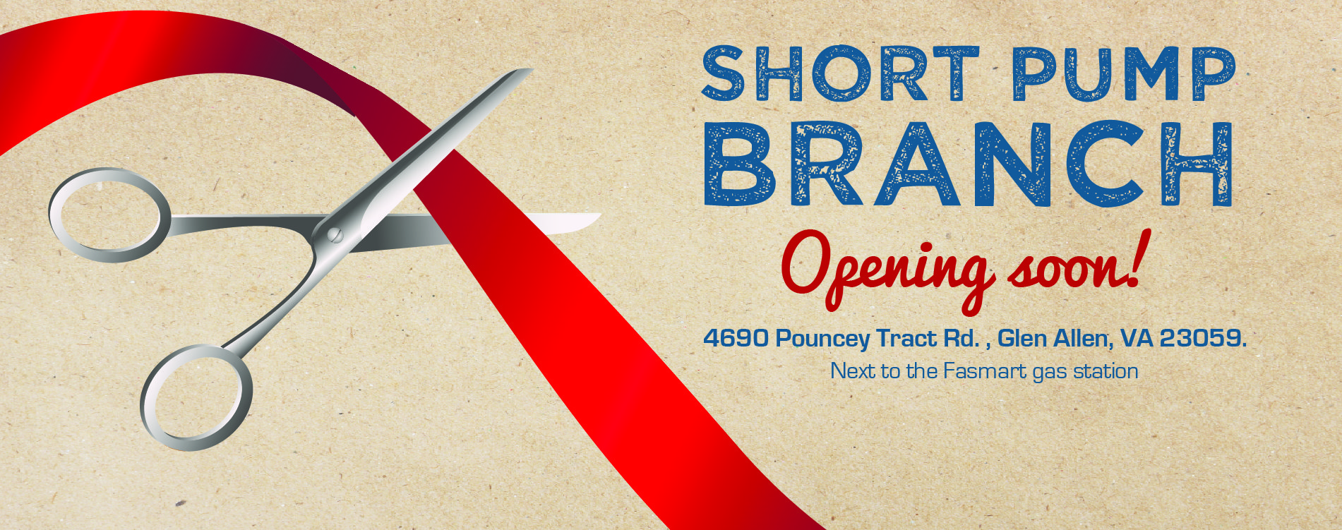 Coming Soon. The Short Pump Branch