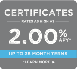 certificates, rates as low as 2.00%