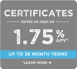 certificates, rates as low as 1.75%