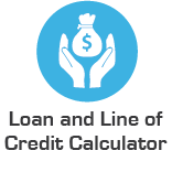 loan and line of credit calculator icon